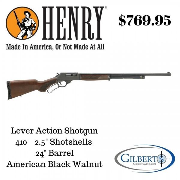 """Henry 410 Lever Action Shotgun With 24"""" Barrel H018-410"""