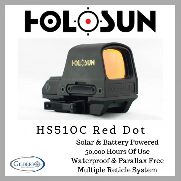 Holosun HS510C Solar Red Dot Optic With Multiple Reticle System