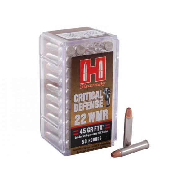 Hornady Critical Defense 22 Winchester Magnum 45 FTX Ammunition 83200