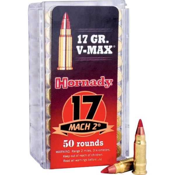 Hornady 17 Mach 2 17 Grain V-Max Ammunition 83177