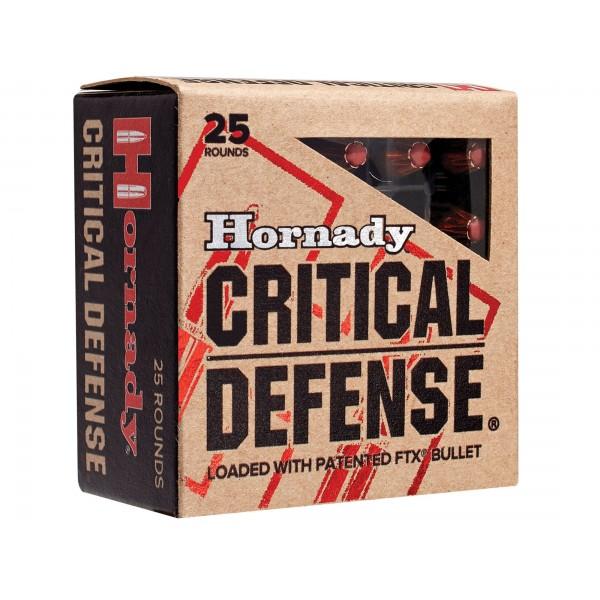 Hornady Critical Defense 9mm 115 Grain FTX Ammunition (25 Rounds) 90250