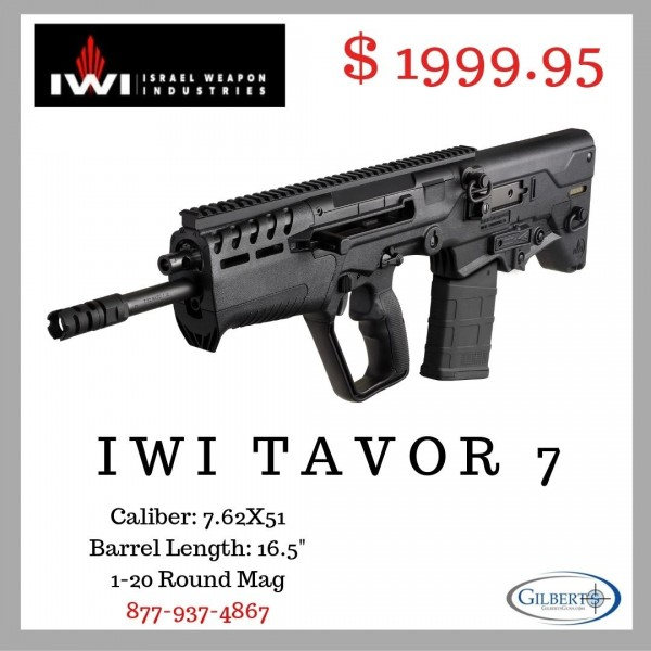 """IWI Tavor 7 Bullpup in 7.62 NATO With 16.5"""" Chrome Lined Barrel T7B16"""