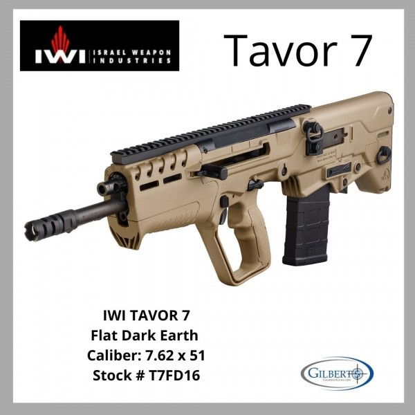 IWI Tavor 7 7.62 NATO Flat Dark Earth Bullpup  T7FD16