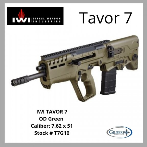 IWI Tavor 7 7.62 NATO OD Green Bullpup T7G16