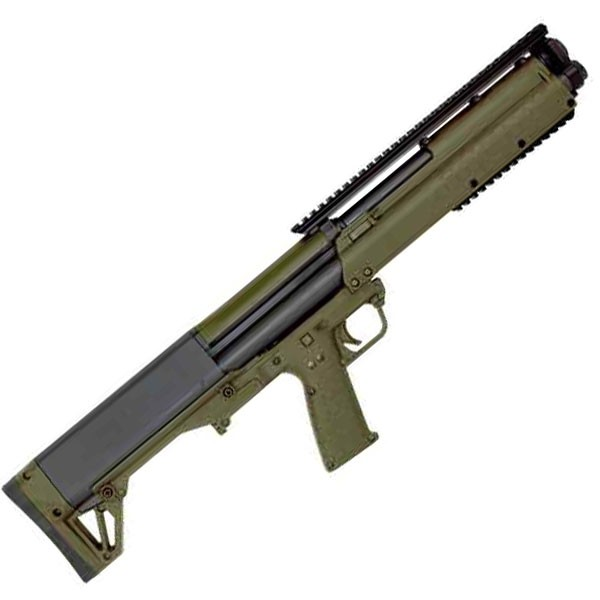 "KelTec KSG 12 Gauge Green Shotgun With 18.5"" Barrel"