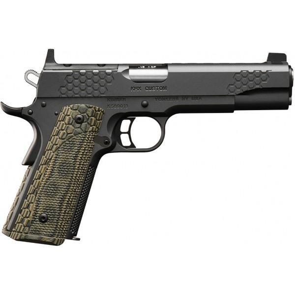 """Kimber 1911 KHX Custom 45 ACP Optics Ready Pistol With 5"""" Barrel & Raised 3 Dot White Sights 3000860"""