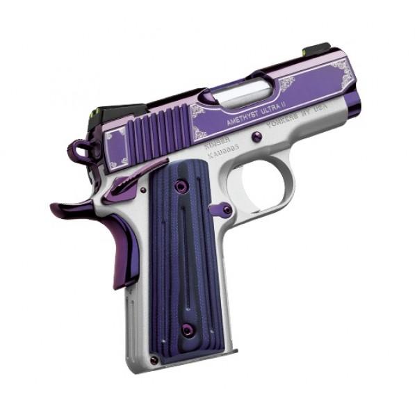 "Kimber 1911 Micro Pistols: Kimber 1911 Amethyst Ultra II 45 ACP Pistol With 3"" Barrel"