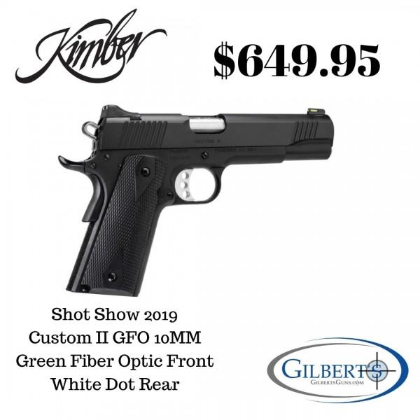 "Kimber Custom II GFO 10mm Pistol With 5"" Barrel 3700551"