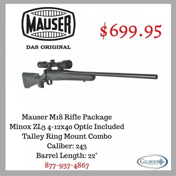 Mauser M18 243 Rifle With Minox ZL3 4-12X40 Scope