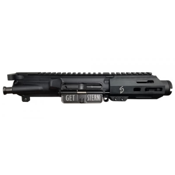"Stern Defense 9mm 4"" Complete MLOK Upper Receiver With Flash Can"