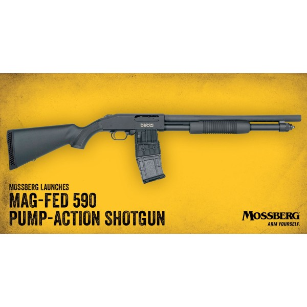"Mossberg 590M 12 Gauge 18.5"" Detachable Magazine Shotgun 50205"