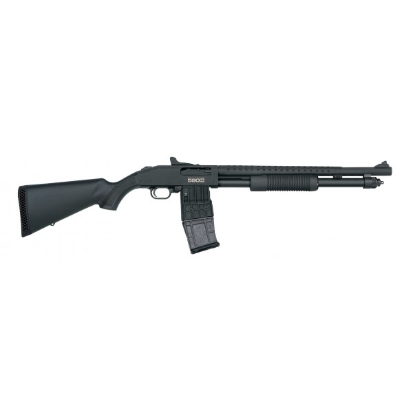 "Mossberg 590M 12 Gauge 18.5"" Mag Fed Shotgun With Heat Shield & Ghost Ring Sight 50206"