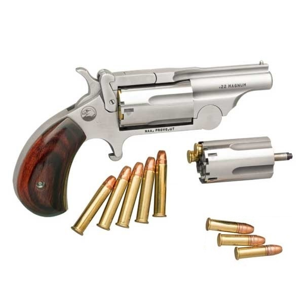 North American Arms Top Break 22 LR / 22 Magnum Revolver NAA-22MCBTII