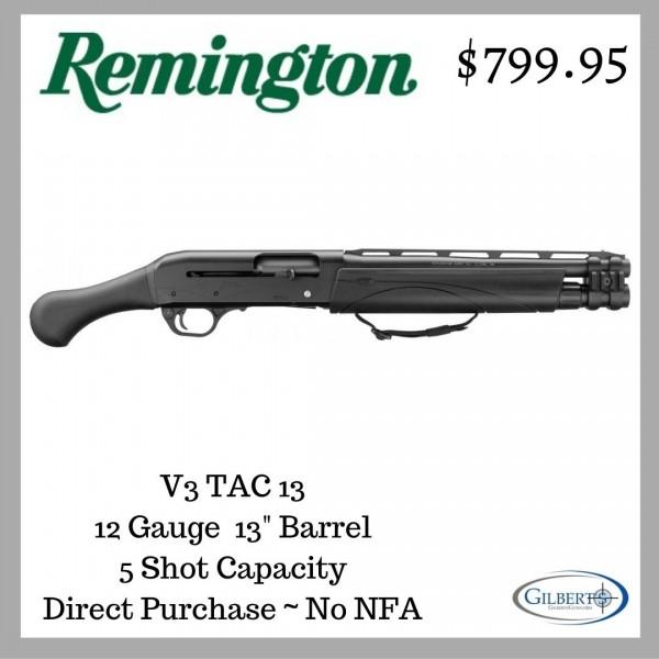 """Remington V3 Tac-13 12 Gauge Shotgun With 13"""" Barrel 83392"""