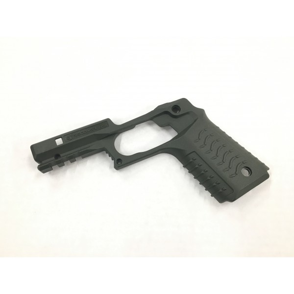 Recover Tactical CC3H Grip and Rail System For 1911 Pistols (Green)