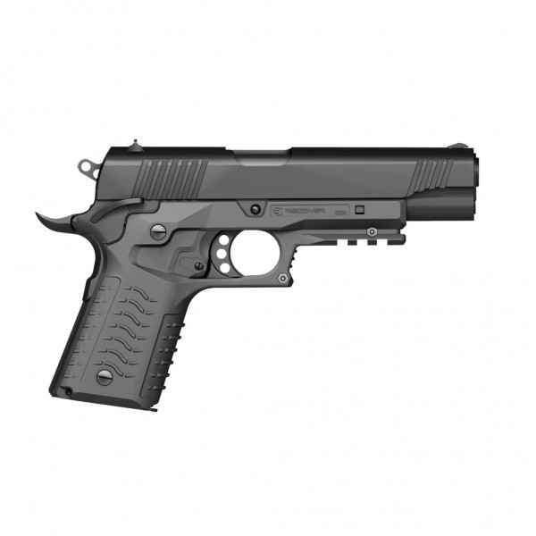 Recover Tactical CC3H Grip and Rail System For 1911 Pistols (Phantom Grey)