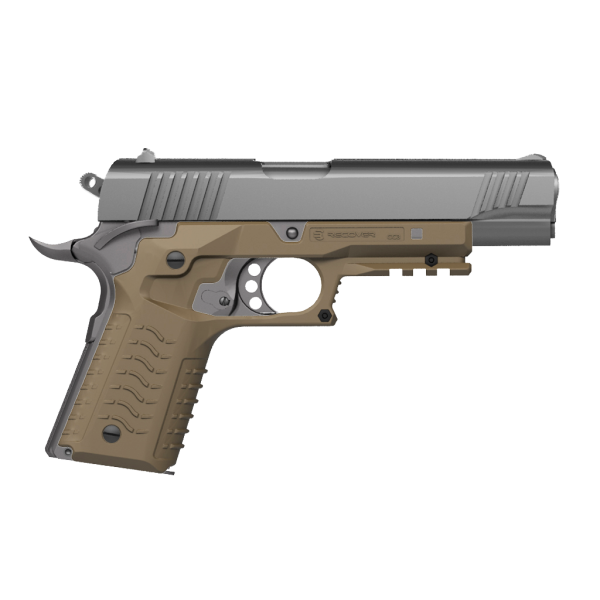 Recover Tactical CC3H Grip and Rail System For 1911 Pistols (Tan)