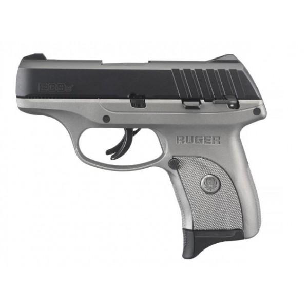 Ruger EC9S 9mm Savage Silver Cerakote Finish Pistol 03290