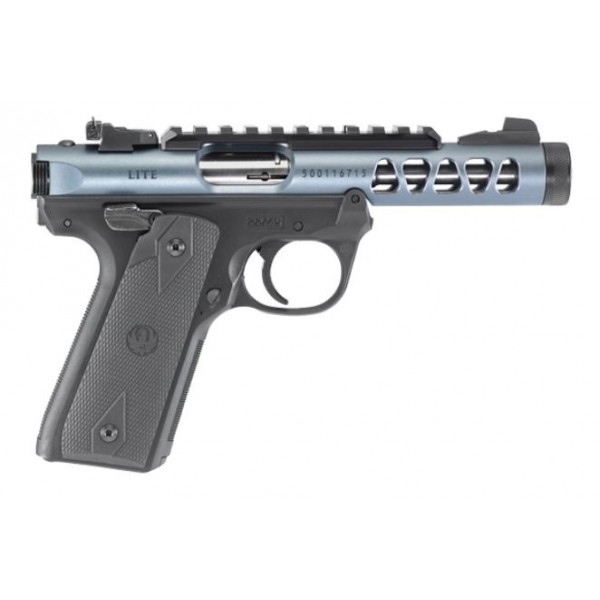 """Ruger MKIV 22/45 Lite 22LR Diamond Gray Anodized Pistol With 4.4"""" Threaded Barrel & 2 Magazines 43917"""