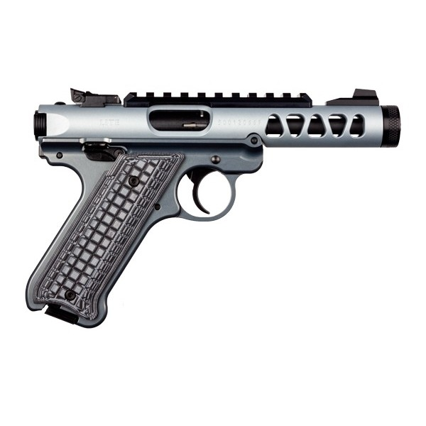 "Ruger Mark IV Lite Diamond Gray 22LR Pistol With 4.4"" Threaded Barrel & 2 Magazines 43922"