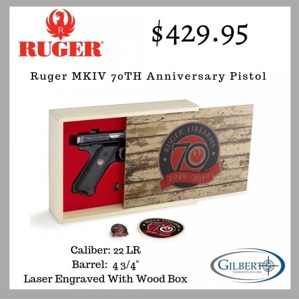 Ruger Mark IV 70TH Anniversary 22LR Pistol