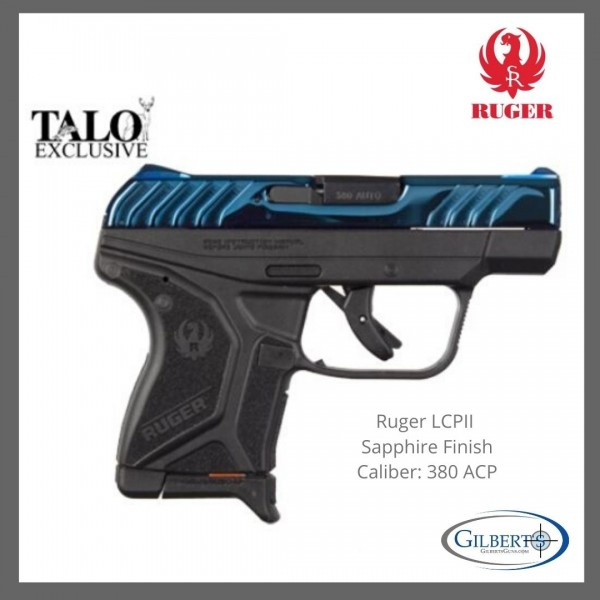 Ruger LCP II TALO Edition Sapphire 380 Pistol 03788