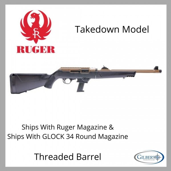 Ruger PC Carbine Takedown 9mm Rifle In Davidsons Dark Earth 19113