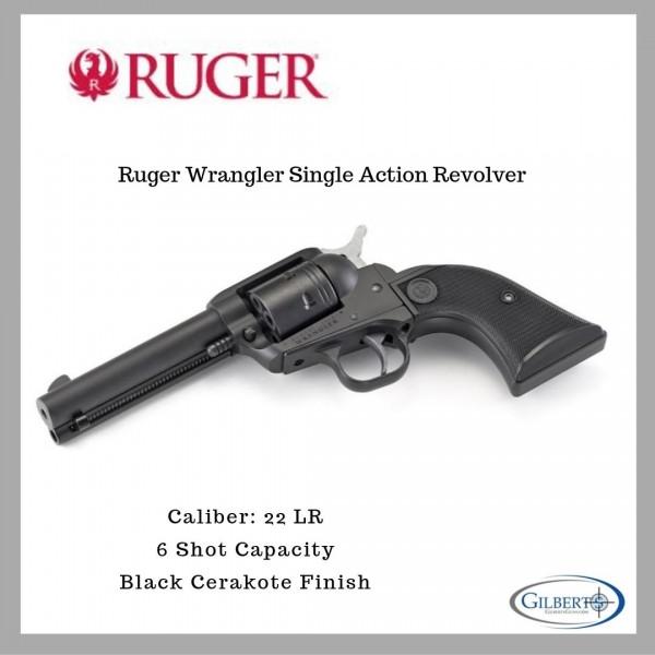 Ruger Wrangler Black Cerakote Single Action Revolver 02002
