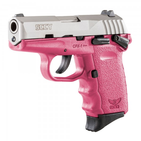 SCCY CPX-1 Stainless 9mm With Pink Frame & 2-10 Round Magazines CPX1TTPK