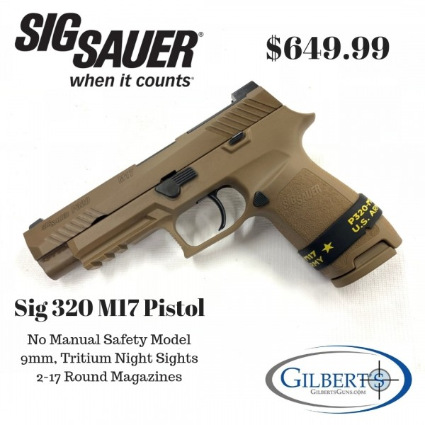 Sig P320 M17 9mm Pistol (No Manual Safety) 320F-9-M17