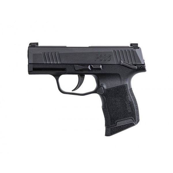 "Sig P365 9mm Pistol With 3.1"" Barrel, Manual Safety & Night Sights 365-9-BXR3-MS"