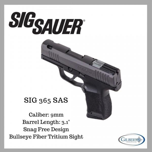 Sig P365 9mm SAS Pistol With Bullseye Night Sights 365-9-SAS-C