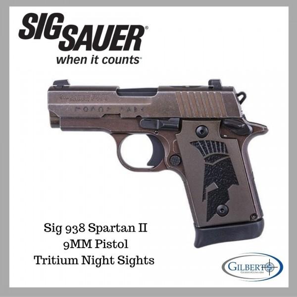 Sig 938 Spartan II 9mm Pistol 938-9-SPARTANII-AMBI