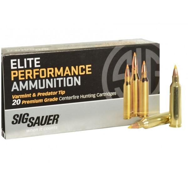 Sig Elite Performance Varmint 243 55 Grain Polymer Tip Ammunition E243V1