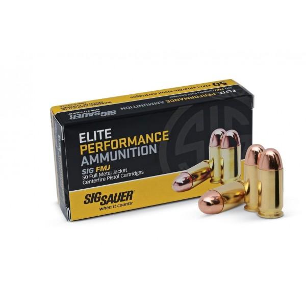 Sig Elite Performance 357 Sig 125 Grain FMJ Ammunition E357B1