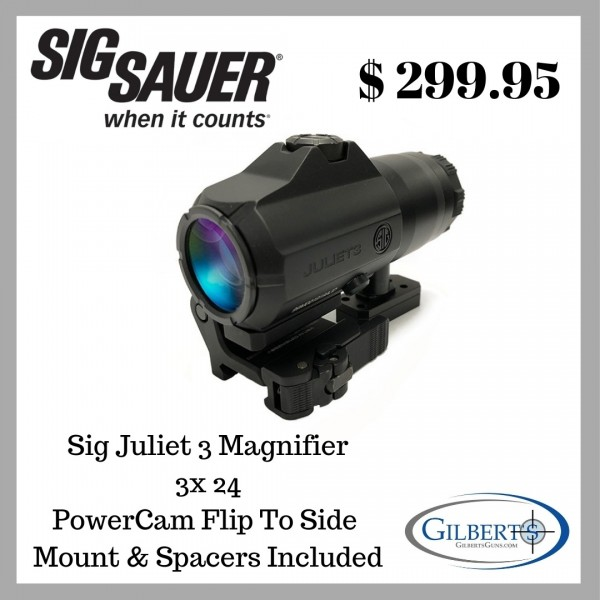 Sig Juliet 3 3x24 Magnifier With PowerCam QR Flip To Side Mount SOJ31001