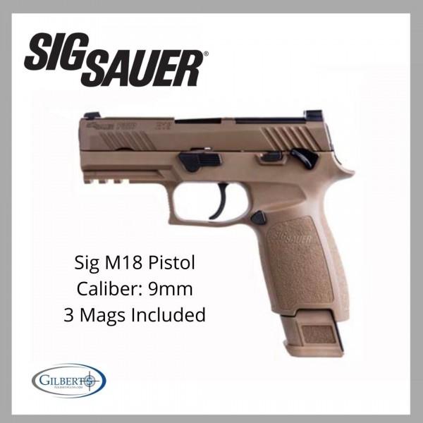 Sig M18 9mm Pistol With 3 Magazines 320CA-9-M18-MS