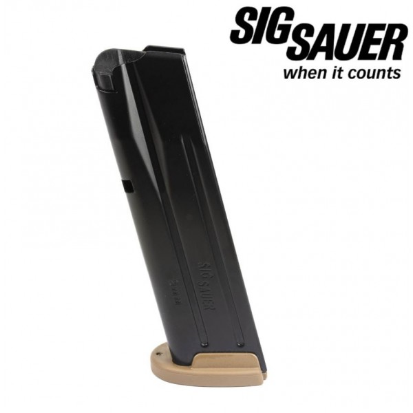 Sig 320 9mm 17 Round Mag With Coyote Plate MAG-MOD-F-9-17-COY