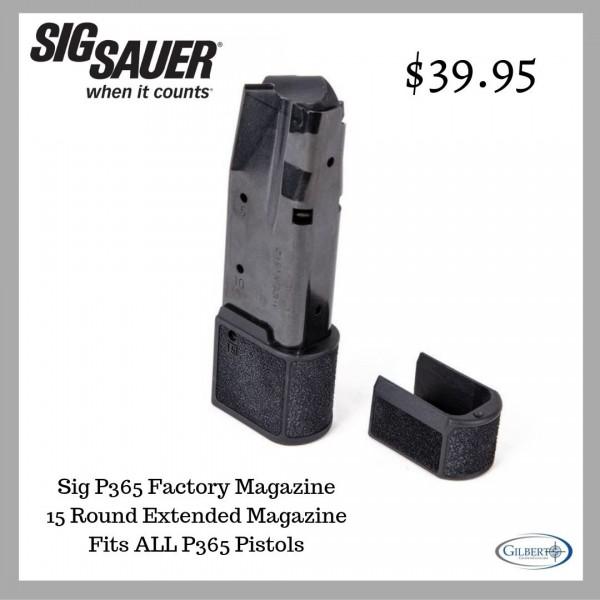Sig P365 9mm 15 Round Factory Magazine MAG-365-9-15