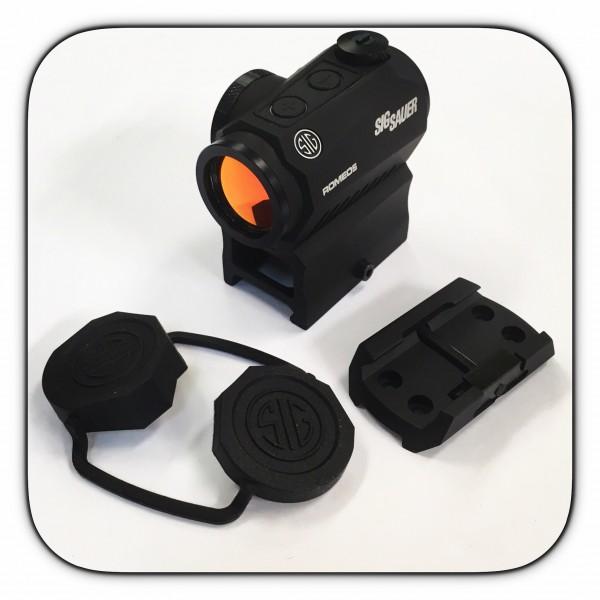 Sig Sauer Romeo 5 Compact Red Dot Sight MOTAC W/ 2 Risers SOR52001