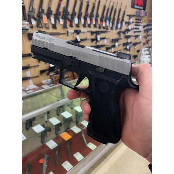 Sig 320 X-Carry Stainless 9mm Pistol With Night Sights & 2-17 Round Mags 320XCA-9-TXR3