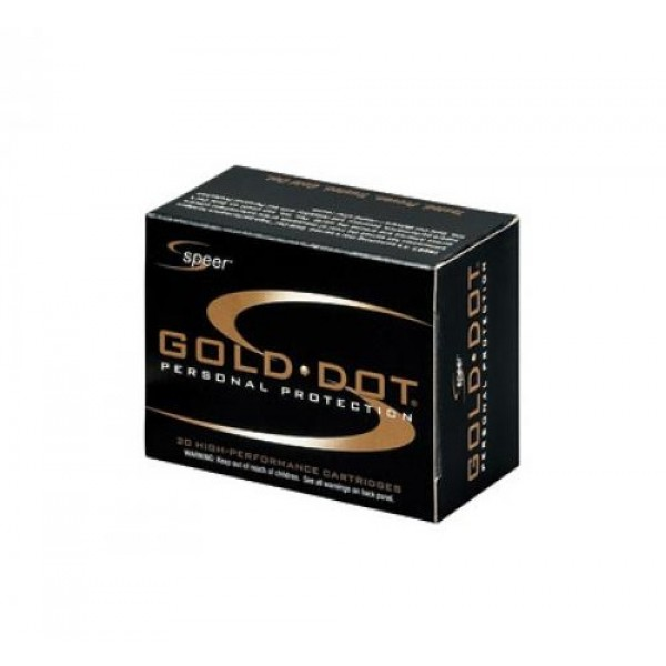 Speer Gold Dot 9mm 147 Grain Defense Ammunition   23619