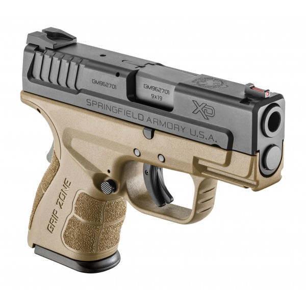 Springfield XD Mod 2 Sub Compact 9mm Pistol With FDE Frame XDG9801FDEHC