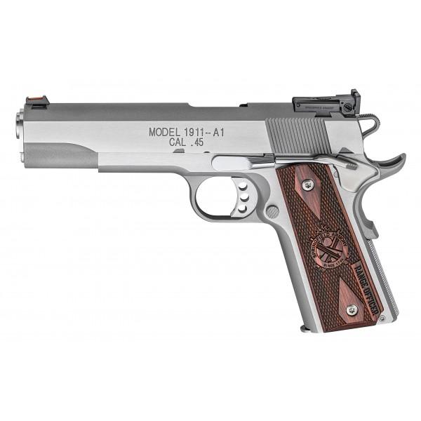 Springfield PI9124L Stainless Range Officer Pistol