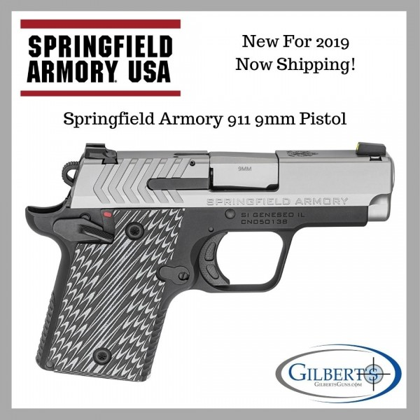 Springfield 911 9mm Stainless Pistol PG9119S