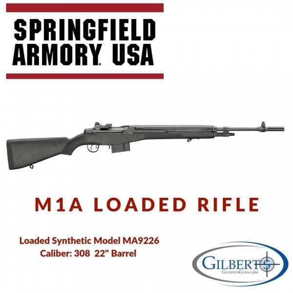 """Springfield M1A Loaded 308 Rifle With 22"""" Barrel & Composite Stock MA9226"""