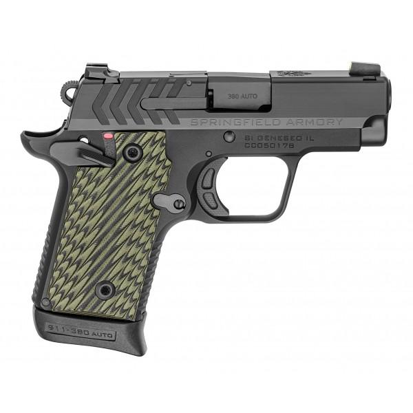 Springfield 911 Black 380 ACP Pistol With Pro Glo Tritium Night Sights PG9109