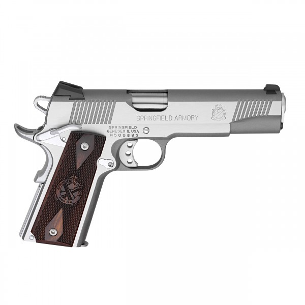 Springfield 1911 Stainless Loaded 45 ACP Pistol PX9151L