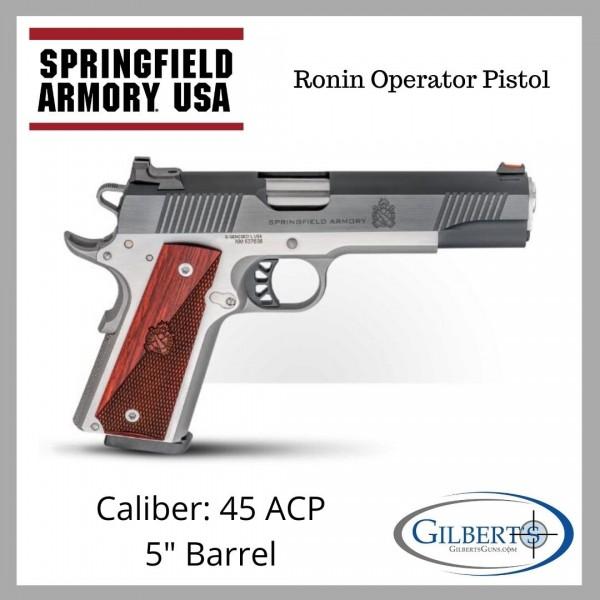 "Springfield 1911 Ronin Operator 45 ACP Pistol With 5"" Barrel PX9120L"