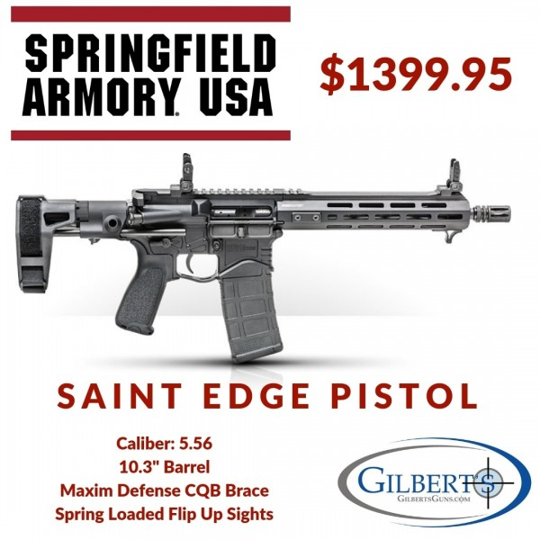 Springfield SAINT Edge 5.56 Pistol With Maxim Defense CQB Brace STE9103556B